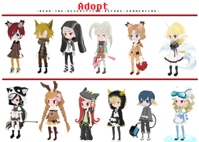 FREE Adoptables - Kemonomimi Edition [CLOSED] by ReddAdopts