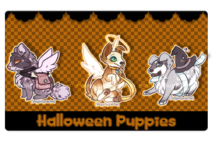 WtD Halloween Puppies [ Closed ] by BaseAdopts
