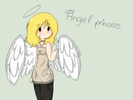 Pixel Angel Princess (gift) by Drawing-Heart