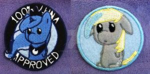 Luna and Derpy Circle Patches by TheHarley
