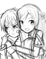 Sword Art Online rough sketch by xXvampireangel78Xx