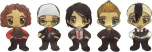 Chibi Three Cheers MCR by QueenNekoyasha
