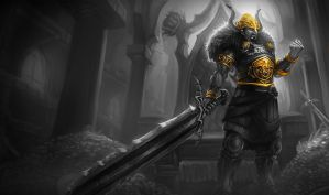 Monochromatic Splash Art Viking Tryndamere by AODRG