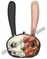 Visible Floating BunnyHead by JackHook