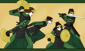 Kyoshi Warriors by bluehorse-rmd