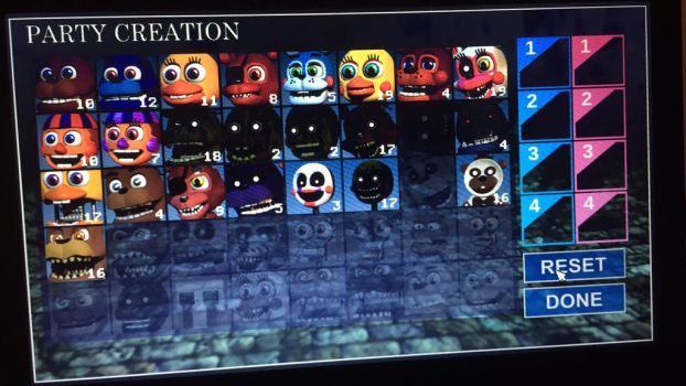 FNAF World Characters by DeadlyToxic777