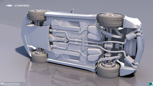 Chevrolet Camaro - High Poly Render -Undercarriage by DTHerculean