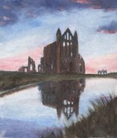 whitby abbey miniature by dashinvaine