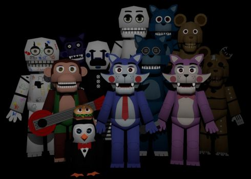 Five Nights at Candy's Papercrafts by Adogopaper
