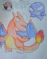 Scared Charizard Finished by Borsaline-Tresbien