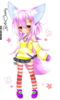 Cute PSD Coloring by Vocaloid-Fairytail