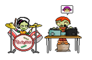 Psychonauts sprite-the Whispering Rockers by CaptainQuestion