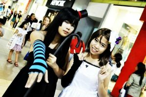 k-on cosplay mio and yui by danixsophie