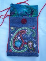 Red Paisley Purse--lining by WhiteAntCrawls
