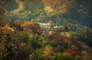 Autumn Church by Neshom
