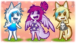 ~ The Animal Crossing Trio ~ by MoonyWings