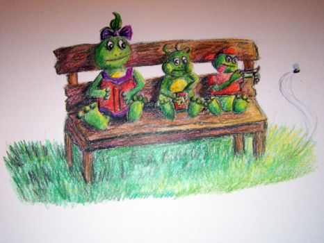 Three little Froggies by Wembot
