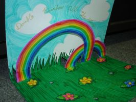 Double Rainbow Birthday Card by lizzy1e