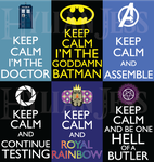 Keep Calm Fandom Badges: Misc 1 by HylianJess