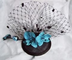 Fascinator - Cyan Orchids by rascalkosher