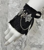 Little Gothic Cuff Bracelet with Scorpio by vilindery