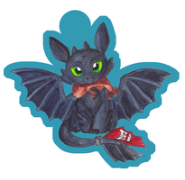Toothless Charm v2 by TeaKayBlue