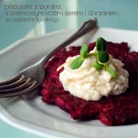 beet pancakes with horseradish goat cheese by Pokakulka