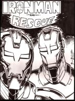 Ironman and Rescue by PeterPalmiotti