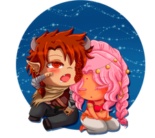 Chibi Love - Draek y Dalila by RanNiwa