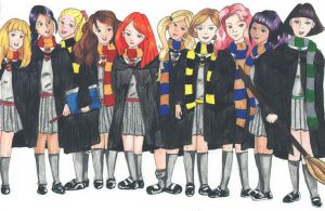Hogwart Girls by TheNorthMint