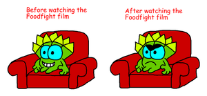 Food Fight watching Foodfight by Blackrhinoranger