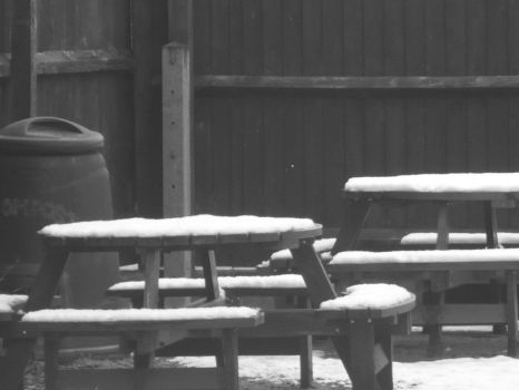 Snowy Tables by ACFeatherweight