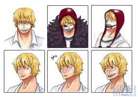 Some Rosinante faces by Kaalish
