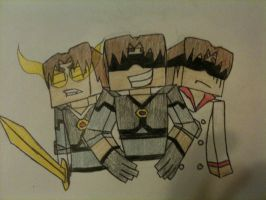The three faces of SkytheKidRS by luver-of-anime3
