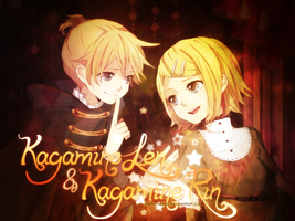 [Banner #9] Kagamine Len and Kagamine Rin by stella-reina