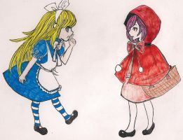 new version .:alice meets red riding:. by xoXDeath-the-KidXox