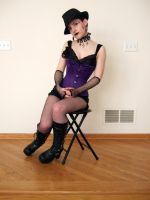 Purple Corset Goth 21 by Stocked-N-Loaded