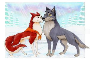 Balto + Jenna by Vani-Fox