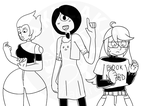 Gems in human Clothes by SakiCakes