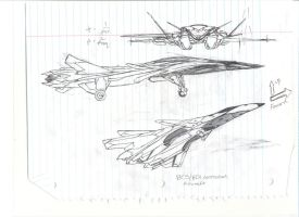 Future fighter plane sketch by Moebius1aic