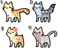 Cat Adopts!! -OPEN- by starlightzs