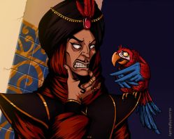 jafar and iago by NightCatty
