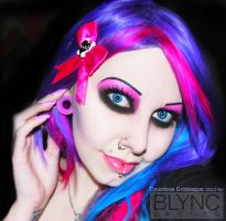 . pink and purple smile . by Countess-Grotesque