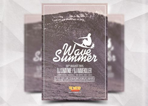 Wave Summer Flyer by Flyermarket