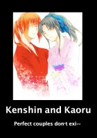 Kenshin and Kaoru by QueenEmilytheDlgnt