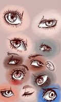Eye Sketches-Different Shapes by TyeskiShino