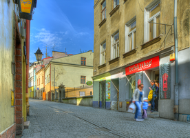 Morning at the Jewish Street by marrciano