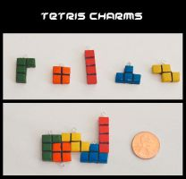 Retro Gamer - Tetris Charms by YellerCrakka