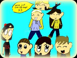 Contest entry: My friends and Hannah by Fallenstar126