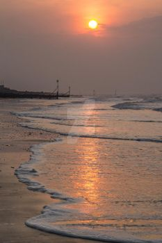 Sherringham Sunset by the Sea by photographybypixie